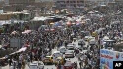 پہلا روزہ: کابل میں خریداری کا منظر