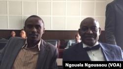 Tresor Nzila et Loamba Moke, à Brazzaville, le 10 décembre. (VOA/Ngouela Ngoussou)