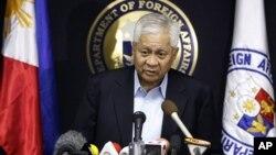 Menlu Filipina, Albert del Rosario mengatakan mengajukan kasus sengketa Luat Cina Selatan ke Pengadilan Internasional untuk Hukum Laut (foto: dok).
