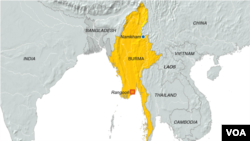 Namkham, Burma map