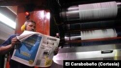 El Carabobeño tiene los días contados porque el gobierno no le da acceso al papel para imprimir.