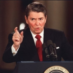 President Reagan during a news conference at the White House on March 19, 1987