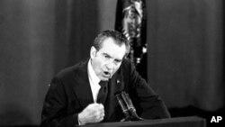 前美国总统尼克松(资料照)