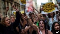 اسپین میں حکومت مخالف مظاہرے