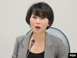 民進黨立委 陳亭妃(美國之音 張永泰拍攝)