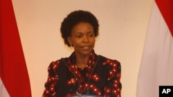 FILE - South African Minister of International Relations Maite Nkoana-Mashabane, March 1, 2014.