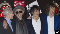 The Rolling Stones dari kiri ke kanan: Charlie Watts, Keith Richards, Ronnie Wood dan Mick Jagger. (Foto: Dok)