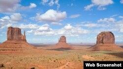 亚利桑那州纪念碑谷公园美景 (资料照片)
