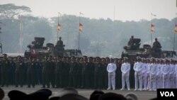 Peringatan HUT TNI di Jakarta (Foto: dok)