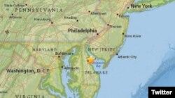 El sismo se sintió también en la costa del Atlántico Medio de Estados Unidos, desde Nueva York a Virginia.