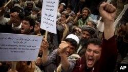 Dân Afghansitan biểu tình phản đối sự hiện diện của các lực lượng quốc tế tại khu vực bộ tộc đầy bất ổn Wardak.