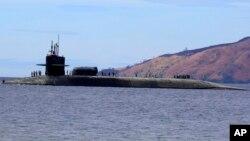 Sous-marin américain USS Michigan, Manille, Philippines, 25 mars 2014.