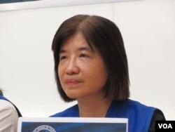 2020东京奥运台湾正名行动小组执行委员朱孟庠(美国之音张永泰拍摄)