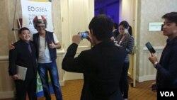 Gilang Rahadian, pendiri 'Anajidan Helmet' (foto/dok: VOA)