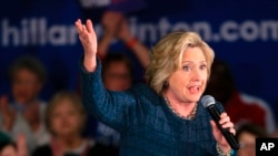 "FILE - Democratic presidential candidate Hillary Clinton speaks during a campaign stop in Council Bluffs, Iowa, Jan. 5, 2016. The State Department's search for documents during Secretary of State Hillary Clinton's tenure contributed to ""inaccurate and incomplete"" responses under federal open records laws, including the existence of her private email account, the agency's watchdog will report."