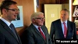 Premijer Srbije Aleksandar Vučić sa nemačkim zvaničnicima u Berlinu