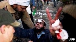 Vụ tấn công hồi hôm qua nhắm vào người biểu tình do những phần tử 'côn đồ' ủng hộ Tổng thống Mubarak