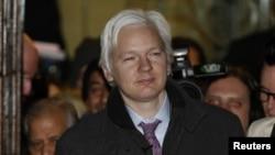 維基解密創始人朱利安•阿桑格2月2日離開倫敦最高法院
