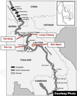 Các dự án thủy điện của Lào trên dòng chính sông Mekong.