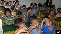 북한 탁아소의 아동들 (자료사진).