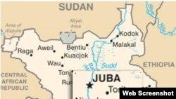 Ramani ya Sudan na Sudan Kusini pamoja na majirani zao.