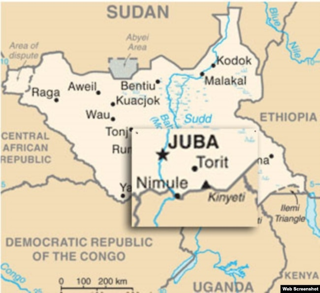 Attack On South Sudan Bus Convoy Kills - Republic of the sudan map