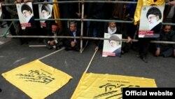 تصویری از راهپیمایی ۱۳ آبان ۱۳۹۲ در وبسایت رهبر جمهوری اسلامی
