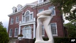 2012年5月29日拍摄的叙利亚在华盛顿的驻美使馆。