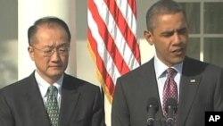 Shugaban Amurka Barack Obama da Jim Young Kim