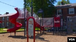 Community residents helped KaBOOM build this playground in Alexandria, Virginia