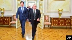 شام اور روس کے صدر کی ملاقات