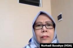 Pengajar Fakultas Ekonomi Universitas Indonesia, Hania Rahma, dalam tangkapan layar. (Foto: VOA/Nurhadi Sucahyo)