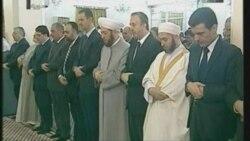 بشار اسد در مراسم عيد فطر