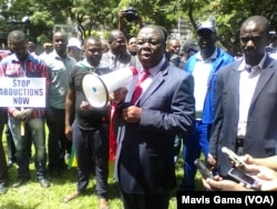 MDC-T Leader Morgan Tsvangirai Address Crowd At One Year Anniversary of Dzamara's Disappearance