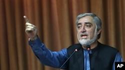 Avganistanski predsednički kandidat, Abdula Abdula na konferenciji za novinare, 8. septembar 2014.