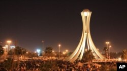 Protesters retake Manama's Pearl Roundabout after the military withdraws, February 19, 2011