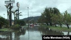 波多黎各遭受玛利亚飓风袭击一周半之后,仍然没有排除的污水给居民带来安全隐患。