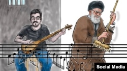 پیشتر، لوک ورنیمن، کارتونیست بلژیکی برای مهدی رجبیان این طرح را کشیده بود. منبع: United Sketches
