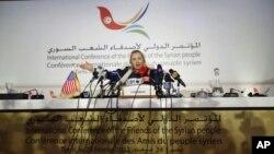 希拉里克林頓出席突尼斯會議。