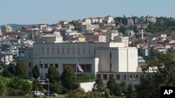 Turkey US The United States consulate in Istanbul, Monday, Oct. 9, 2017