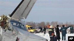 Pesawat penunpang Rusia ATR-72 jatuh di Tyumen, Siberia (2/4). Sedikitnya 31 orang tewas dan 12 orang yang selamat sedang dalam kondisi kritis.