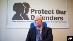 Retired Air Force Col. Don Christensen, president of Protect Our Defenders, a national organization dedicated to addressing the problem of sexual assault in the military, is pictured in his office in Washington, April 15, 2016.