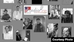 Beberapa staf radio komunitas Islam Indonesia di Amerika (IMSA) yang menyiarkan acara ngabuburit selama bulan puasa (foto:dok)