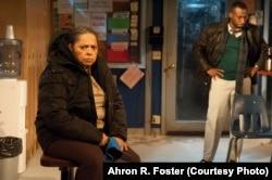 Lynda Gravatt as Faye, Wendell B. Franklin as the foreman, Reggie, in Dominique Morisseau's Skeleton Crew.