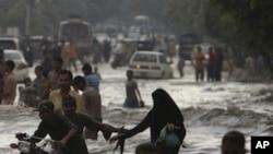 巴基斯坦總理呼籲洪災救助。