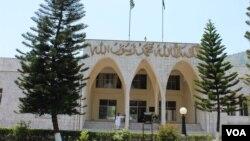 پاکستانی کشمیر کی قانون ساز اسمبلی کی عمارت۔ فائل فوٹو