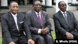Mutungamiri wenyika, VaEmmerson Mnangagwa (pakati) nevatevedzeri vavo VaConstantino Chiwenga naVaKembo Mohadi.