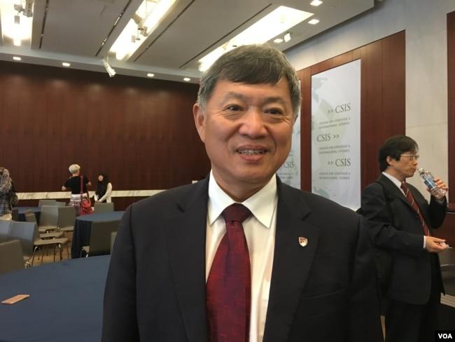 美國丹佛大學國際關係學院中美合作項目主任趙穗生(美國之音鐘辰芳拍攝)