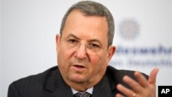 Menhan Israel Ehud Barak akan meninggalkan kancah politik (foto: dok). Barak berbeda pendapat dengan PM Netanyahu mengenai pendekatan dengan AS dalam strategi menghadapi nuklir Iran.