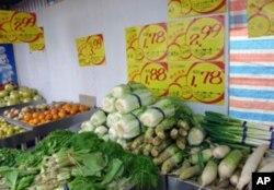 中国农产品价格连连上涨